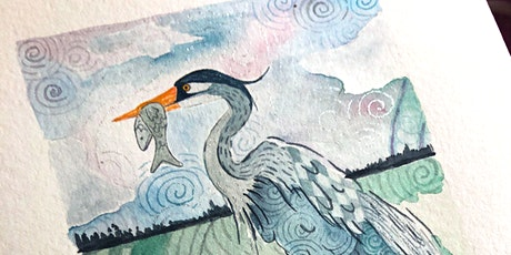 Zentangle® Meets Watercolor -  Great Blue Heron tickets