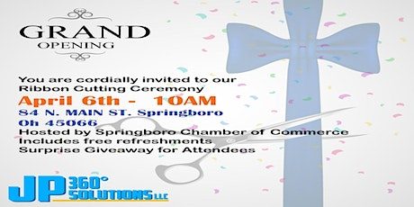 JP 360 Solutions Ribbon Cutting Ceremony tickets