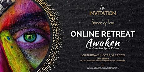 AWAKEN YOUR CREATIVE SPIRIT: 3 SATURDAYS ONLINE (OCTOBER 2021) tickets