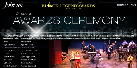 6th Annual Black Legend Hall Of Fame Awards Ceremony tickets