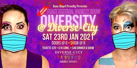 DIVERSITY @ DIVERSE-CITY: A (Briefly Postponed) Feast Variety Show tickets