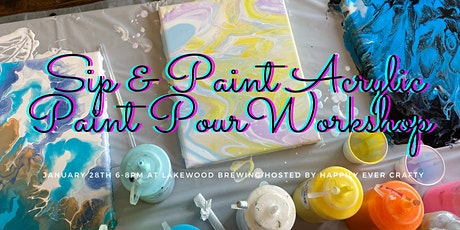 Craft Night Acrylic Pouring Workshop tickets