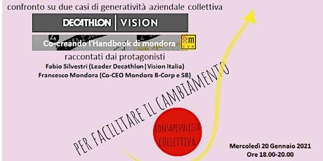 Generatività aziendale collettiva Decathlon-VISION & Mondora-Handbook biglietti