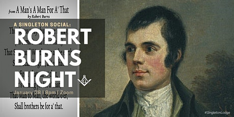 Singleton Lodge's Virtual Social: Robert Burns Night  (Open to Non-Masons) tickets