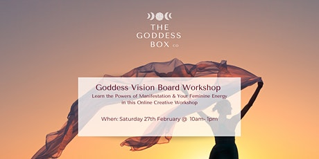 Goddess Vision Board Workshop - Essential Oils, Cacao and Crystal Included tickets
