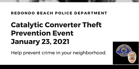 RBPD Catalytic Converter Theft Prevention Event tickets