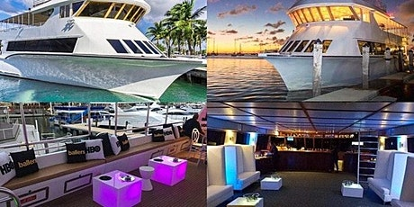 Miami's #1 Boat Party! 4 hours Open Bar unlimited mixed drinks live DJ tickets