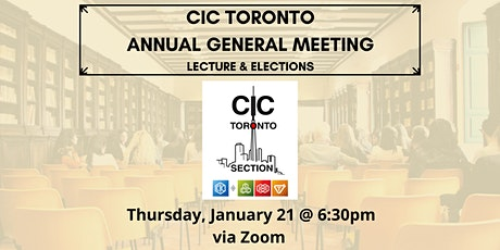 CIC Toronto - Annual General Meeting tickets