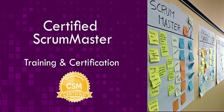 Certified Scrum Master CSM class  (USA - Europe) tickets