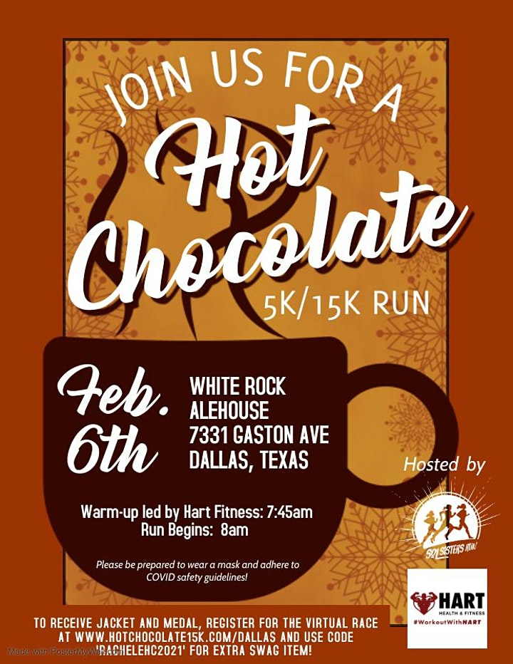 Hot Chocolate 5K/15K Virtual Run at White Rock Lake image