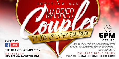 The Heartbeat Ministry: Married Couples Online Bible Study ingressos