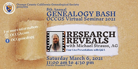 OCCGS Annual BASH 2021 - With Michael L. Strauss, AG Tickets