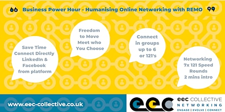 EEC Collective Business Online Networking - Power Hour tickets
