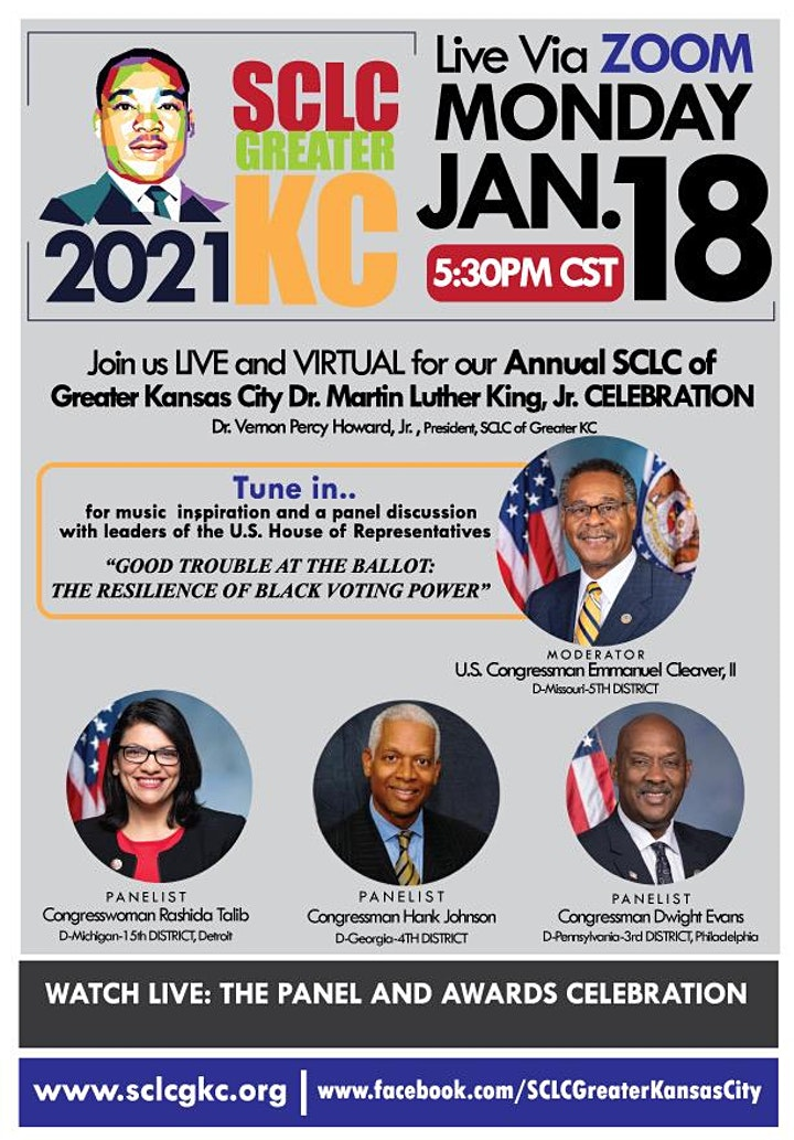 SCLC Greater KC 2021 Dr. King, Jr. - Virtual Celebration image
