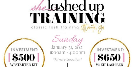 NEW YEAR 2021 Lash Extension Group Training tickets