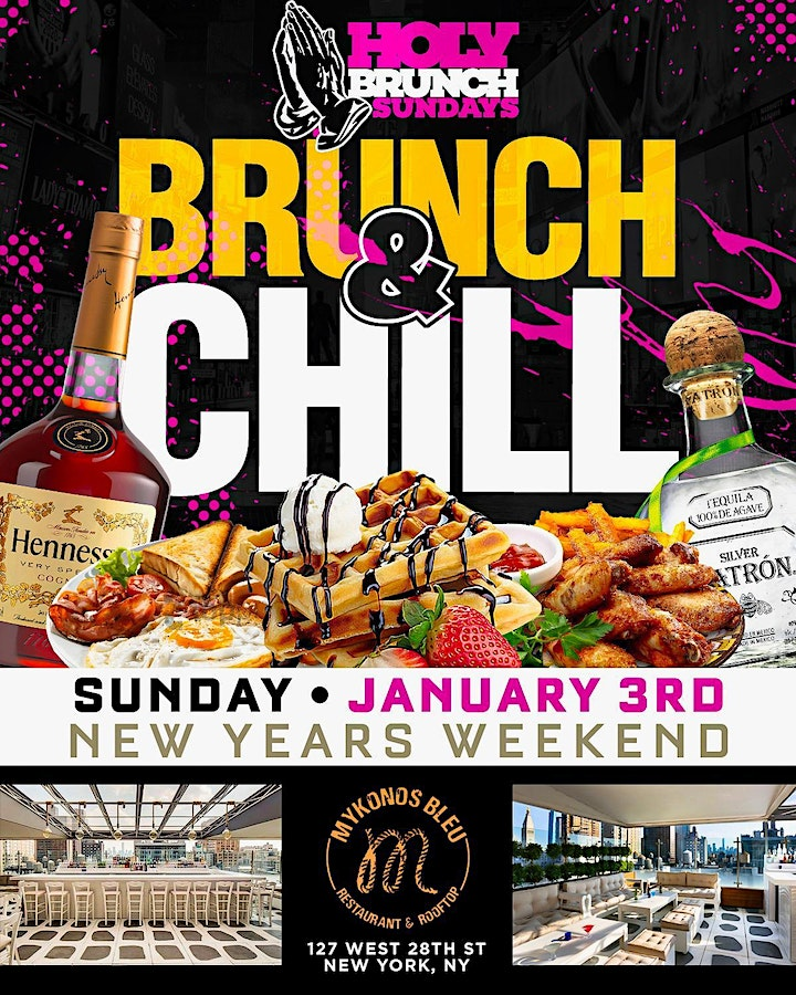 BRUNCH & CHILL SUNDAYS w/BOTTOMLESS DRINKS - #YES image