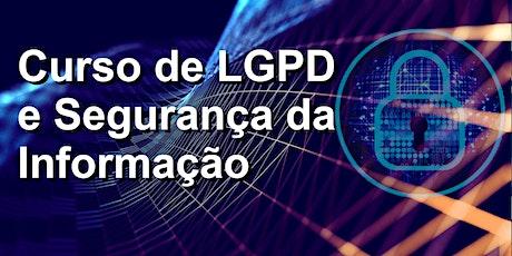 Curso de LGPD e Segurança da Informação bilhetes