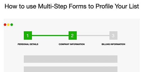How to use Multistep Forms to Profile Your List  - Online Workshop tickets