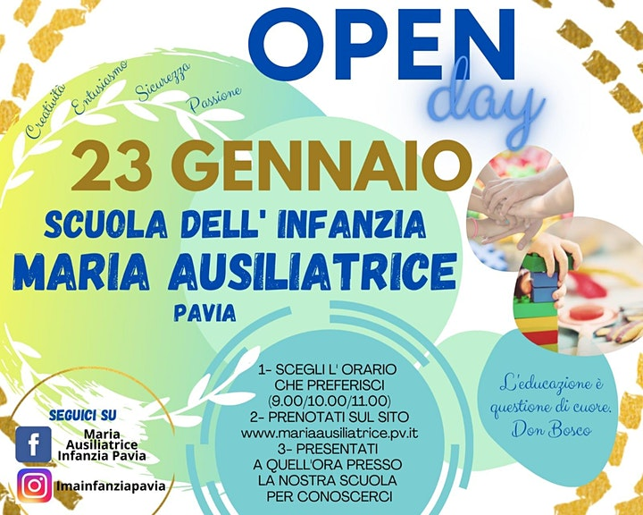Immagine OPEN DAY 23/01/2021 - SCUOLA DELL'INFANZIA - 2° Turno