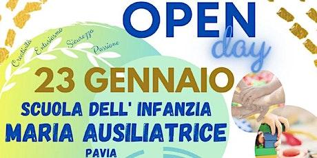 OPEN DAY 23/01/2021 - SCUOLA DELL'INFANZIA - 1° Turno biglietti