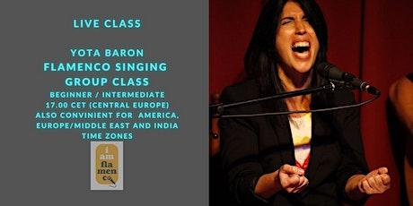 Online Flamenco Singing / Cantiñas/Yota Baron boletos