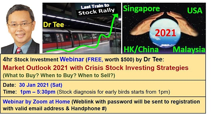 Dr Tee Webinar: Stock Market Outlook with High Dividend Blue Chip Stocks image