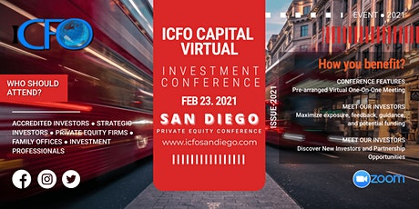 Live Web Event: The iCFO Virtual Investor Conference -  San Diego bilhetes