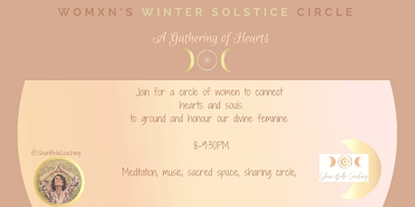 WINTER SOLSTICE- CIRCLE SANCTUARY IN THE  GATHERING OF HEARTS tickets