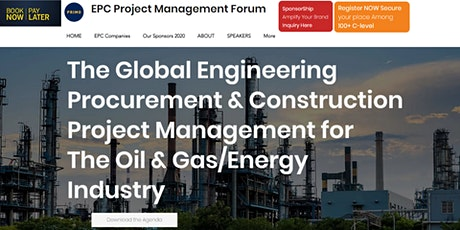 The GLobal EPC Project Management Amsterdam  17-18-19 May 2021 Amsterdam tickets
