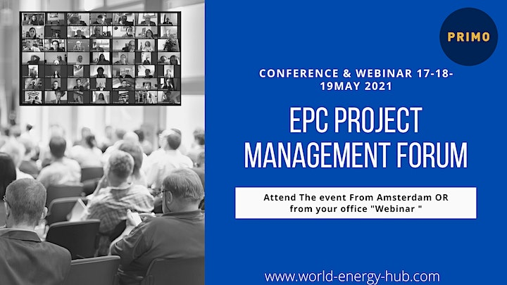 The GLobal EPC Project Management Amsterdam  17-18-19 May 2021 Amsterdam image