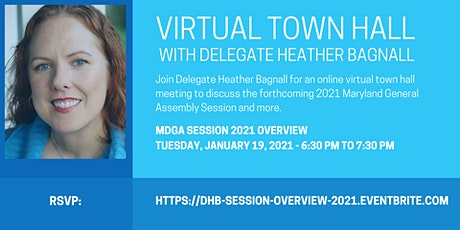 Delegate Bagnall's Virtual Town Hall - MDGA 2021 Session Overview tickets
