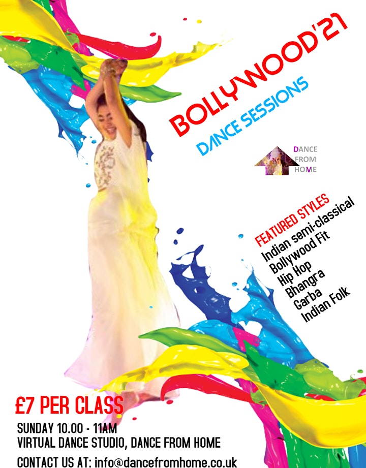 BOLLYWOOD DANCERCISE - MORNING Dance Class (DANCE FROM HOME) image