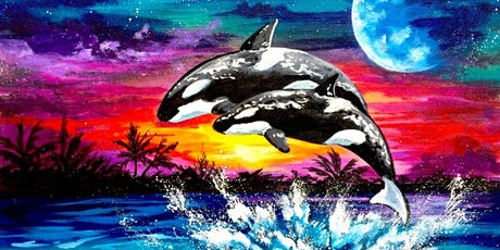 Virtual Painting Experience: Gentle Orca Whales tickets