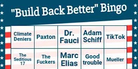"""Build Back Better"" Bingo tickets"