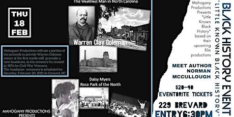 Mahogany Productions Black History Event tickets