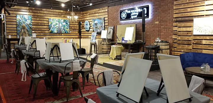 Brushes & Crushes Guided Painting Wine Social image