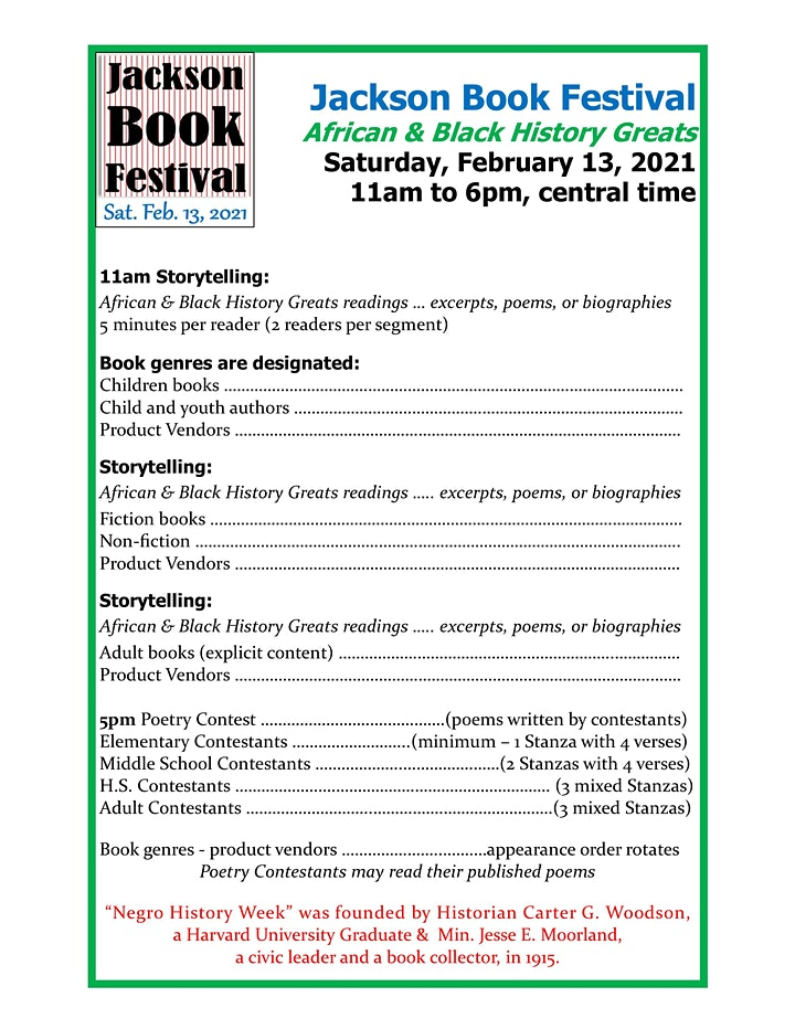 Jackson Book Festival - Poetry Contest 02.13.2020 image