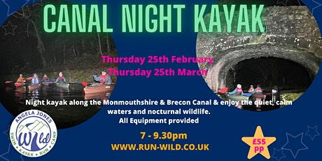 Night Kayak (Monmouthshire & Brecon Canal) tickets