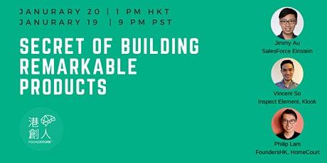Secret of Building Remarkable Products (In Cantonese) tickets