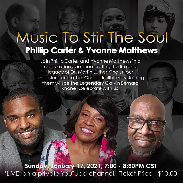 Music To Stir The Soul With Phillip Carter and Yvonne Matthews image