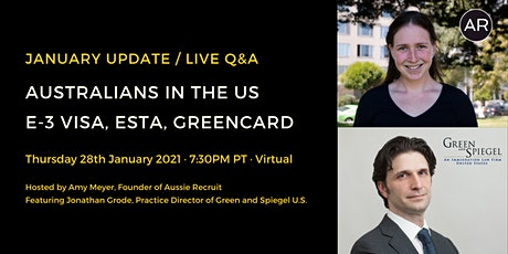 January Update / Live Q&A: U.S. Immigration for Australians tickets