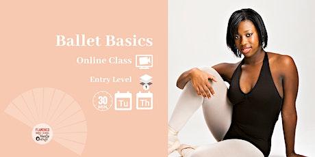 Ballet Basics Online Class tickets