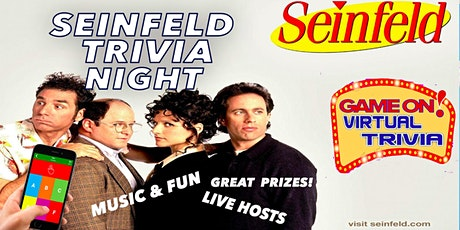 SEINFELD Trivia Night Great Fun   Great Prizes l tickets