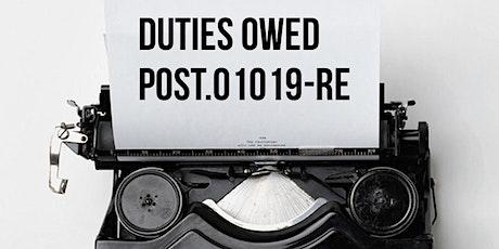 FALL POST Module E Duties Owed tickets