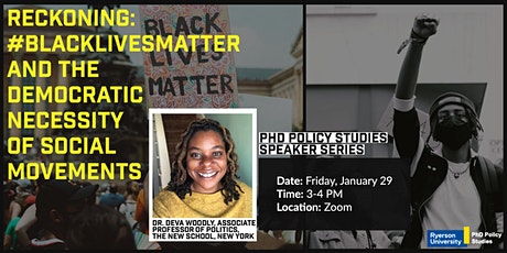 Reckoning:BlackLivesMatter and the Democratic Necessity of Social Movements tickets
