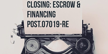 FALL POST Modules L, M Closing Escrow and Finance tickets