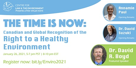 THE TIME IS NOW: Global Recognition of the Right to a Healthy Environment tickets