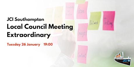 JCI Southampton's - Local Council Meeting Extraordinary tickets