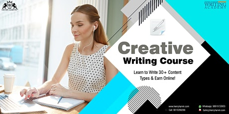 Creative Writing Specialist Course Live Online tickets