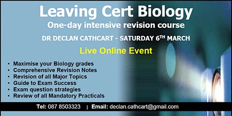 Leaving Cert Biology Revision - One-Day Crash Course tickets